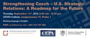 Strengthening Czech – U.S. Strategic Relations: A Roadmap for the Future