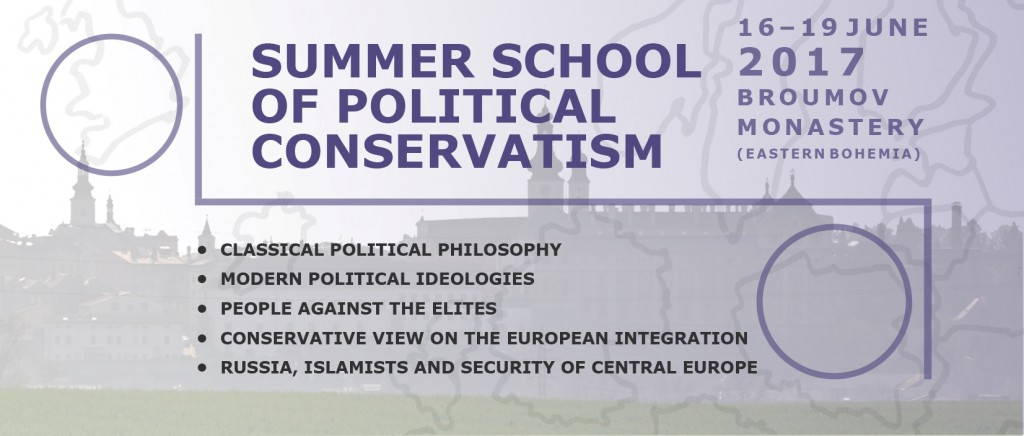 Summer School of Political Conservatism: June 16th-19th 2017